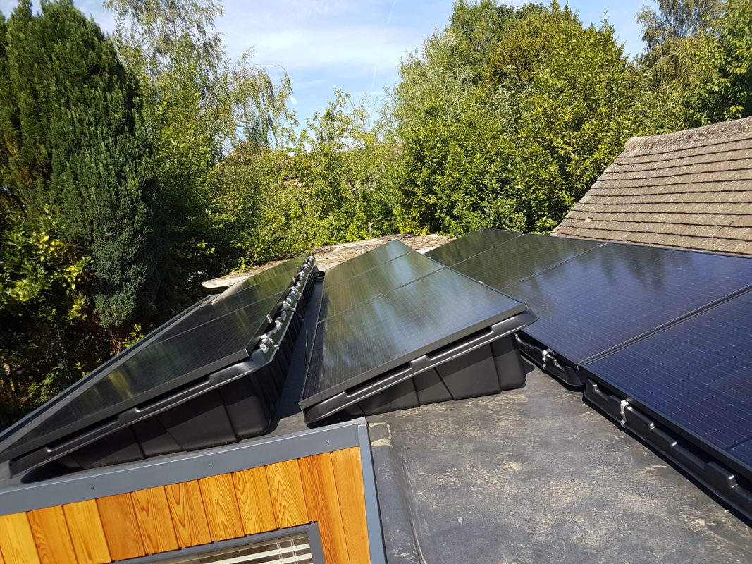 Solar panels on a low carbon build